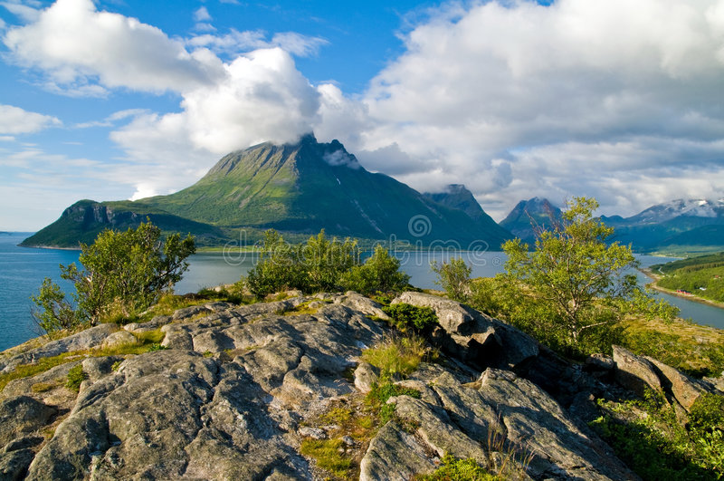 Fiordo di Norweigian immagine stock