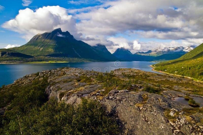 Fiordo di Norweigian fotografia stock libera da diritti
