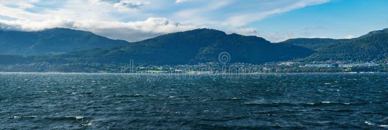 Fiordo e paesaggio norvegesi di estate immagini stock