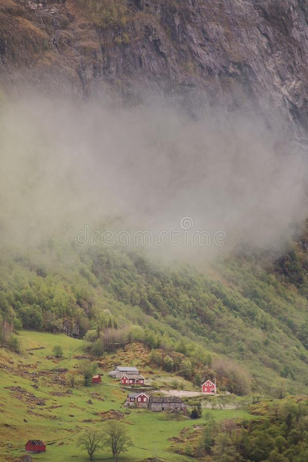 Fiordo-granja imagenes de archivo