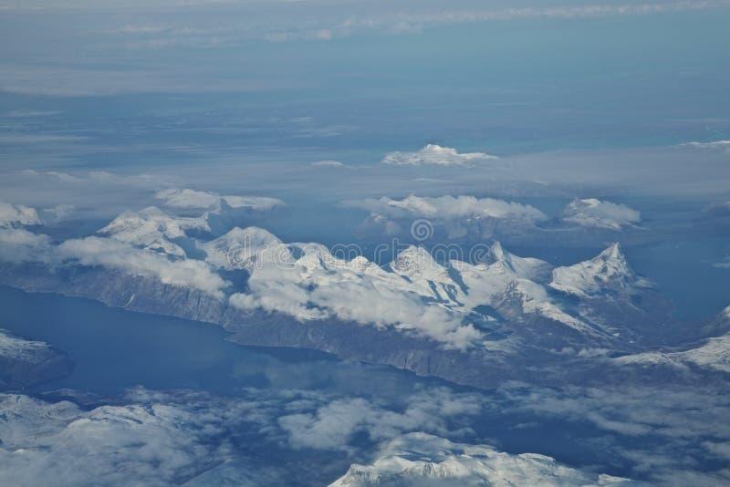Fiordos de Groenlandia foto de archivo