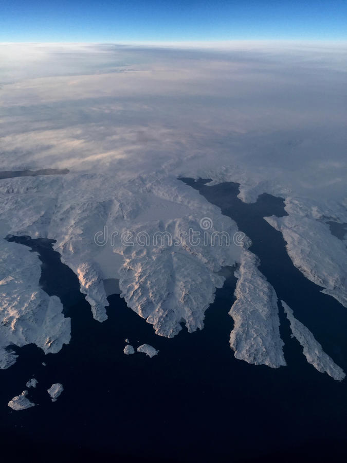 Fiordos del hielo de Groenlandia fotos de archivo