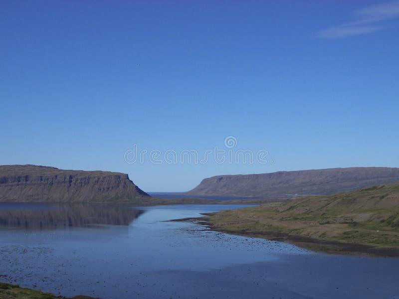 Fiordos occidentales Islandia imagen de archivo libre de regalías