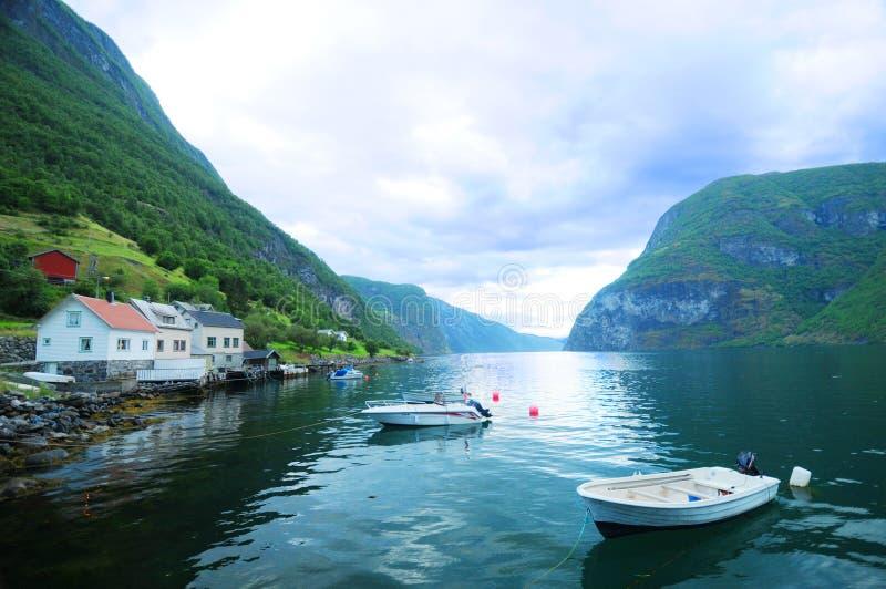 fiordu łodzi fotografia stock