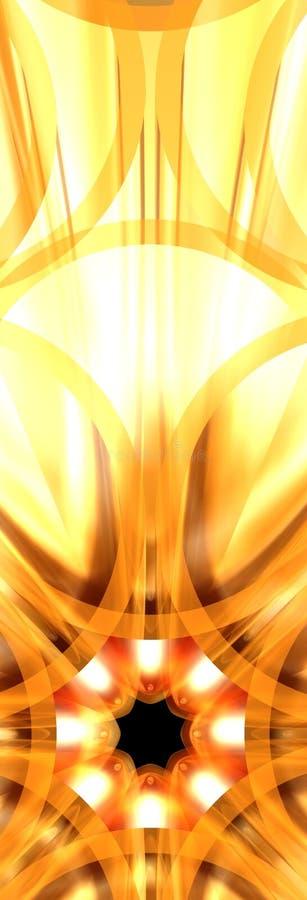 Fiore 3 dell'oro illustrazione di stock