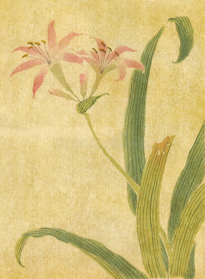 Fiore antiquato illustrazione di stock