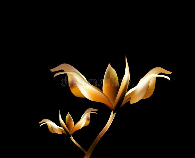 Fiore ardente del fuoco del petalo di Rosa royalty illustrazione gratis