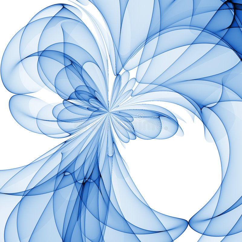 Fiore blu illustrazione vettoriale