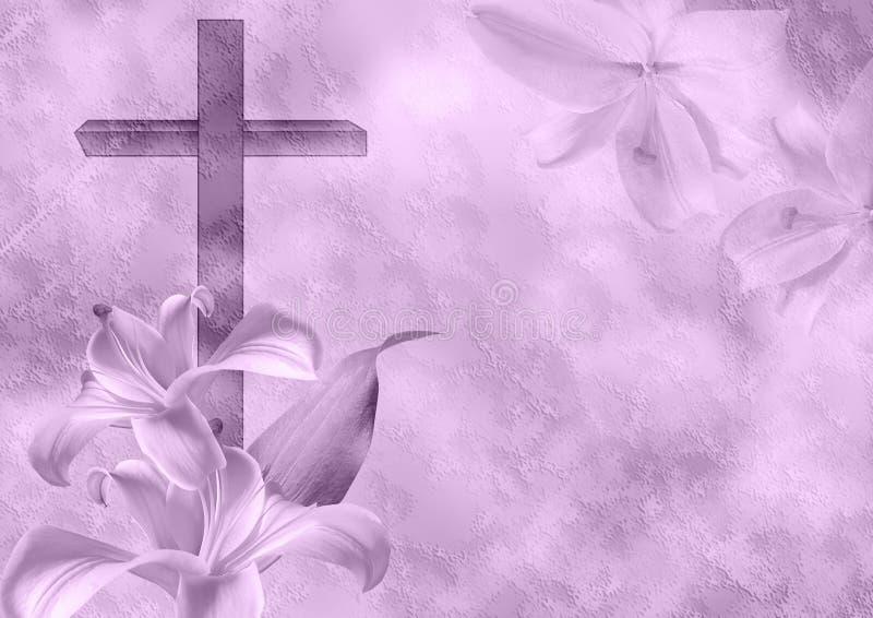 Fiore cristiano del giglio e dell'incrocio royalty illustrazione gratis