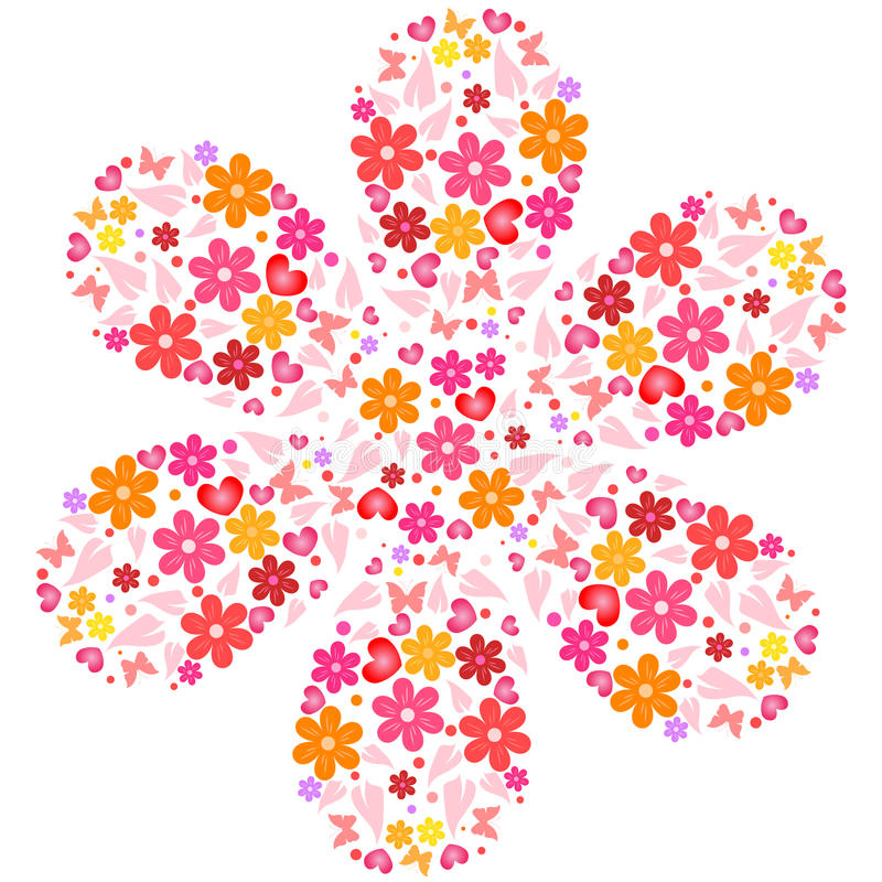 Fiore dai fiori royalty illustrazione gratis