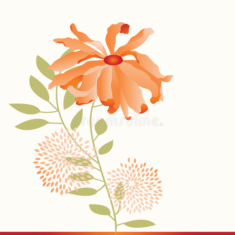 Fiore del crisantemo royalty illustrazione gratis