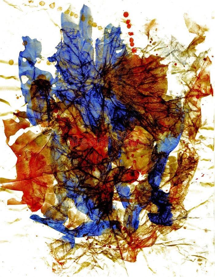 Fiore del cristallo del grafico e dell'acquerello fotografia stock