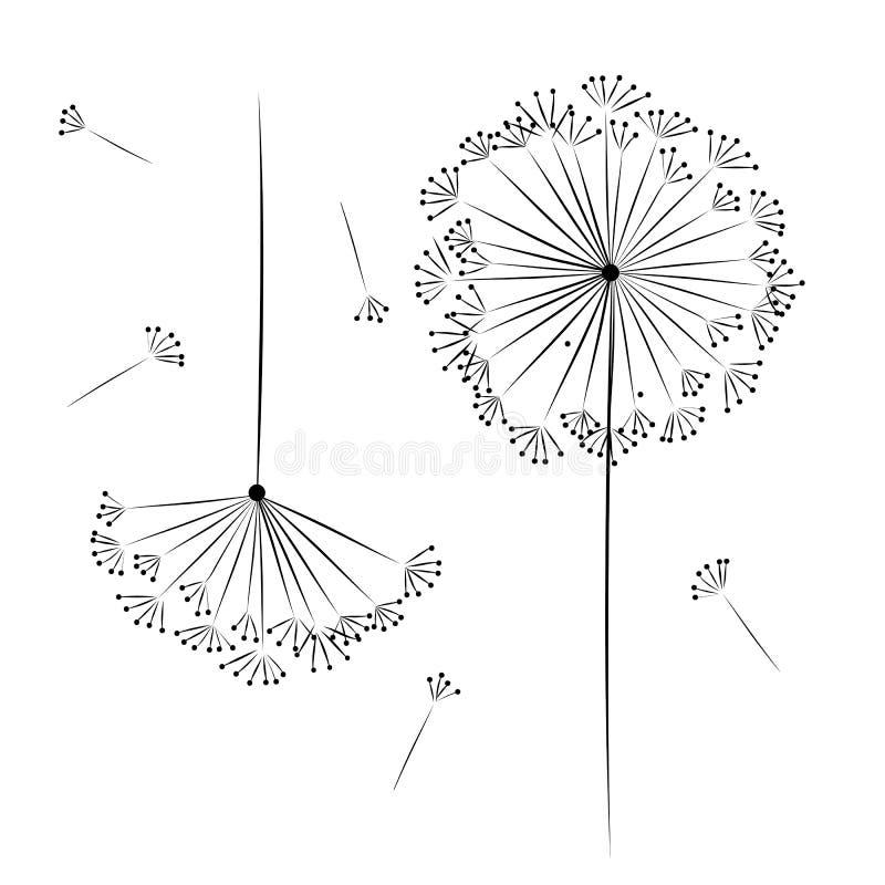 Fiore del dente di leone per la vostra progettazione illustrazione di stock