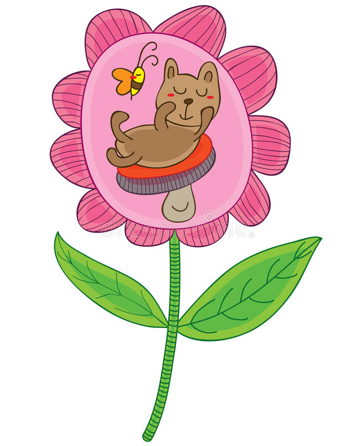 Fiore del fungo dell'orso sveglio royalty illustrazione gratis