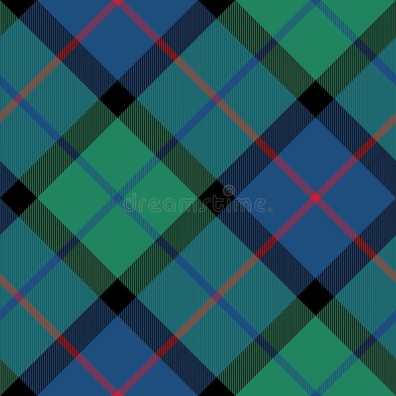 Fiore del modello diagonale senza cuciture di struttura del tessuto del tartan della Scozia illustrazione di stock