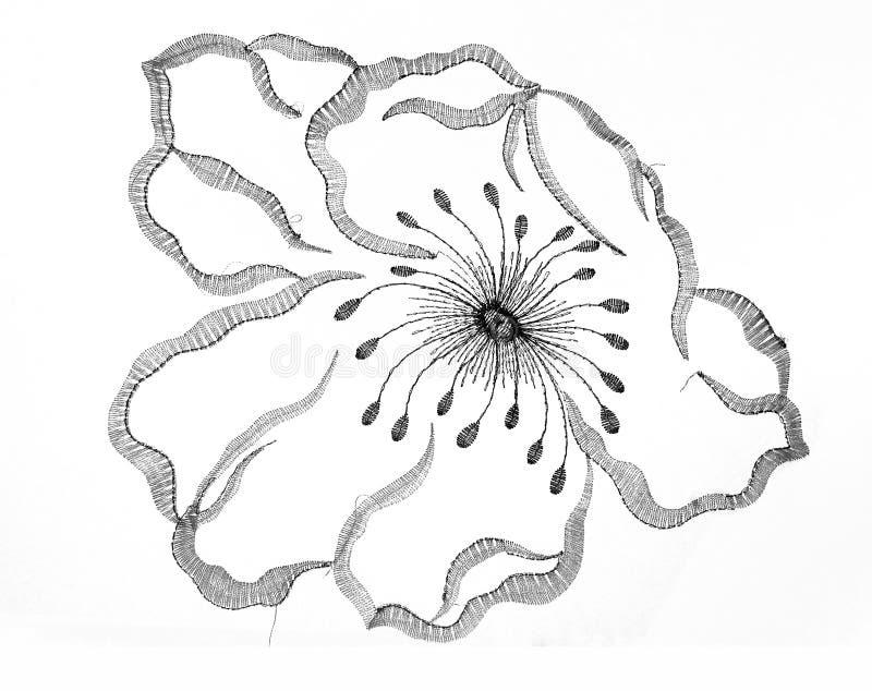 Fiore del ricamo immagini stock libere da diritti