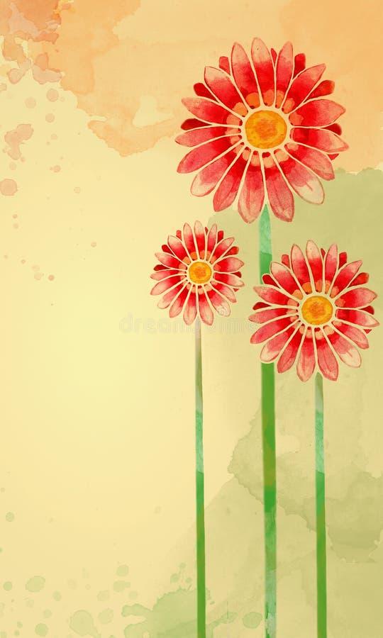 Fiore dell'acquerello illustrazione vettoriale