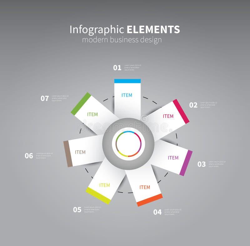 Fiore dell'elemento di Infographics illustrazione vettoriale
