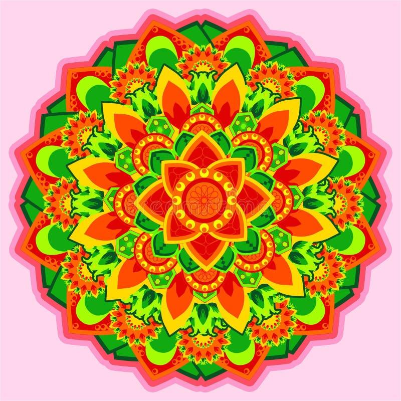 Fiore dell'ornamento del cerchio illustrazione vettoriale
