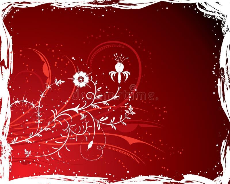 Fiore della priorità bassa di Grunge, elementi per il disegno (vettore) illustrazione di stock