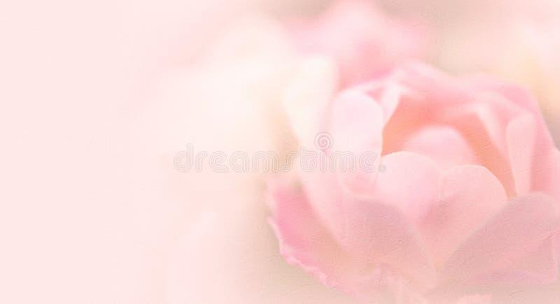 Fiore della rosa di rosa nello stile d'annata di colore su struttura della carta del gelso immagini stock libere da diritti