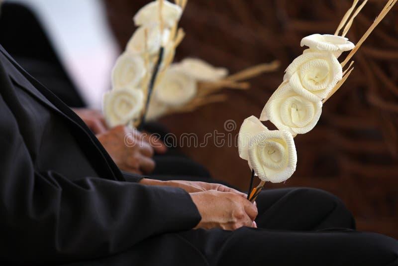 Fiore di carta di Dakamghantns nel funerale tailandese fotografia stock libera da diritti