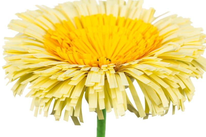 Fiore di carta gialla fotografia stock libera da diritti