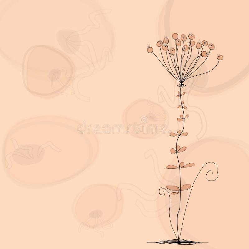 Fiore di fantasia illustrazione vettoriale