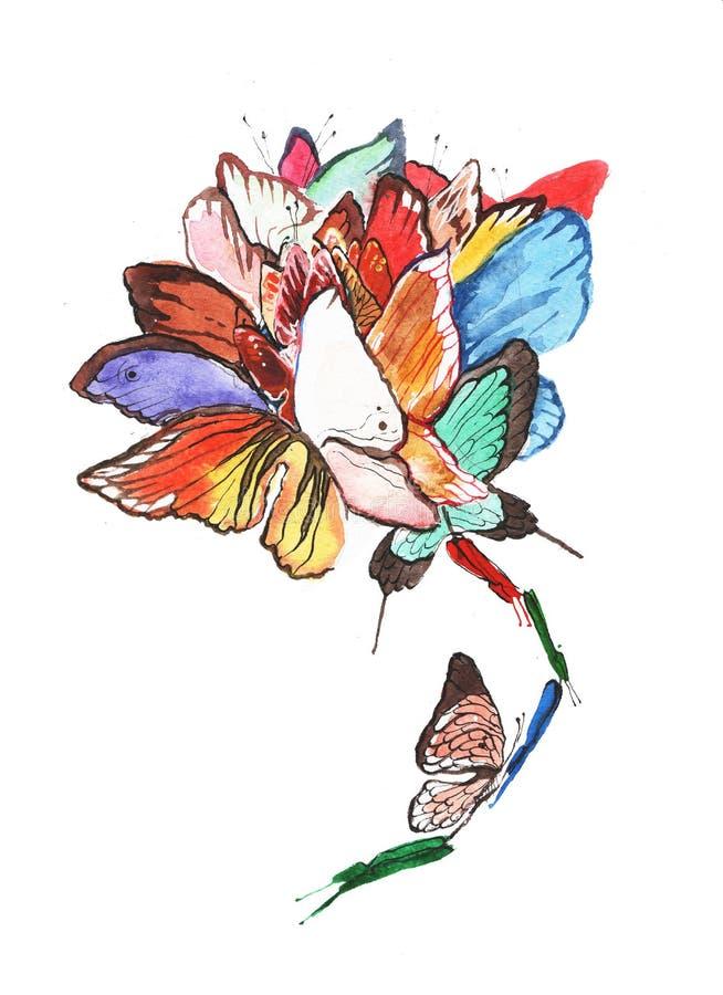 Fiore di farfalle illustrazione di stock