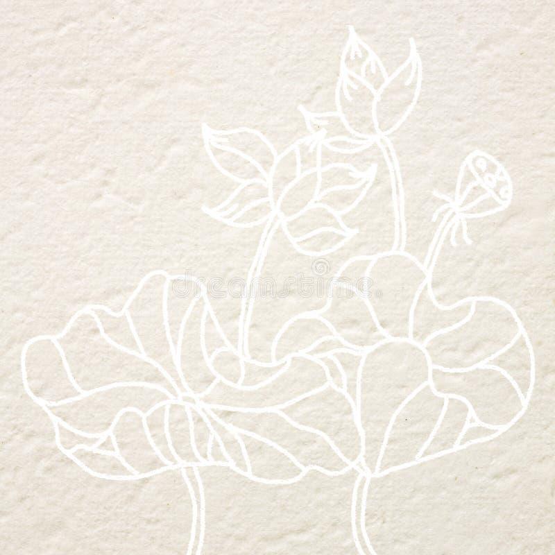 Fiore di loto dell'illustrazione illustrazione di stock