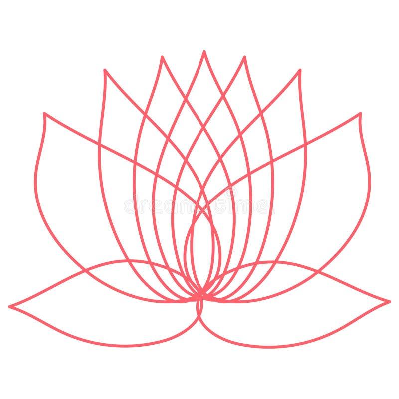 Fiore di loto dentellare Elemento del disegno potete usare come logo illustrazione di stock