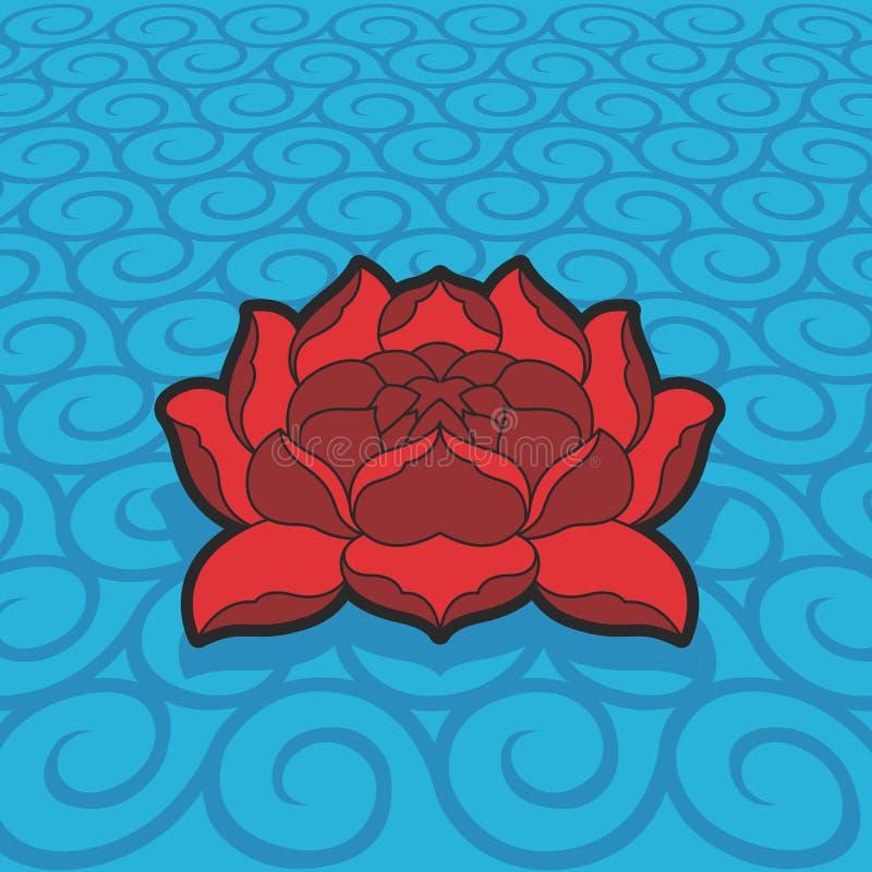 Fiore di loto di vettore royalty illustrazione gratis