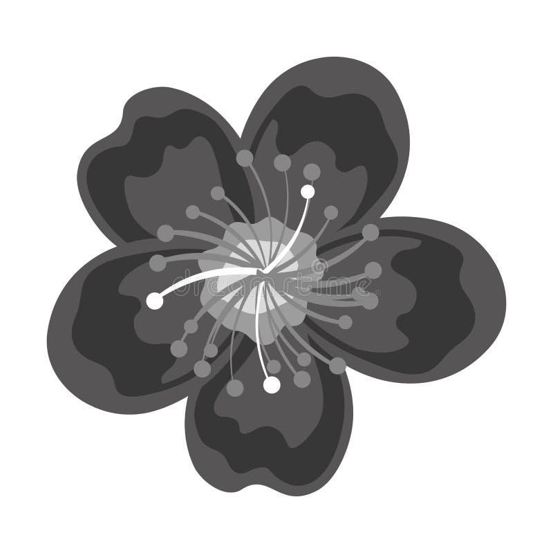 Fiore di loto sveglio isolato illustrazione vettoriale