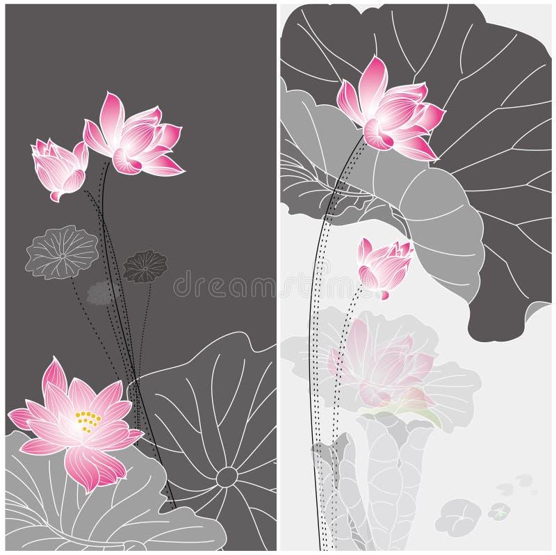 Fiore di Lotus illustrazione di stock