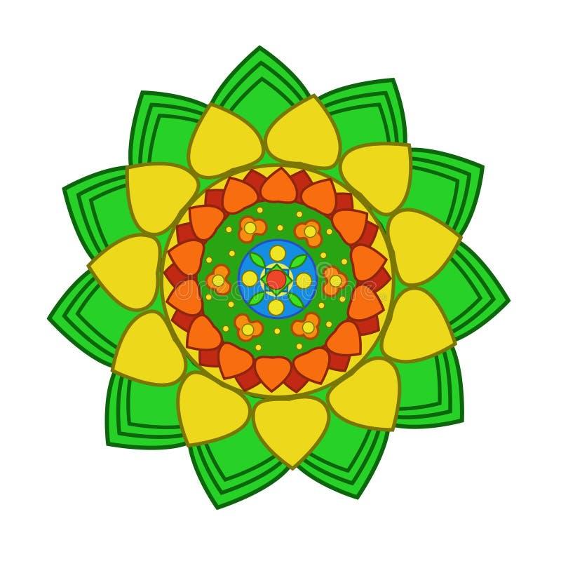 Fiore di lotus del modello illustrazione di stock - Modello di base del fiore ...