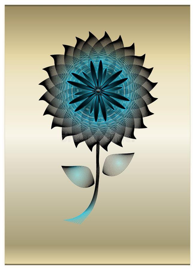 Fiore di mescolamento nero e blu fotografia stock