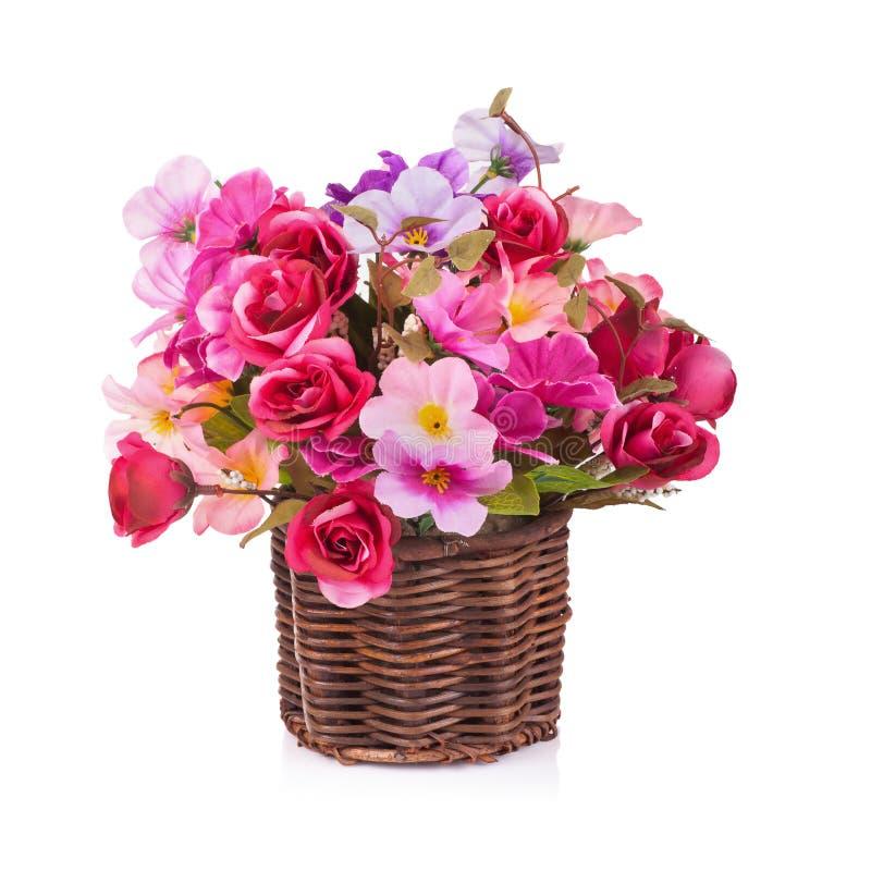 Download Fiore Di Plastica Per La Decorazione Su Fondo Bianco Fotografia Stock - Immagine di flora, romanzesco: 56879038