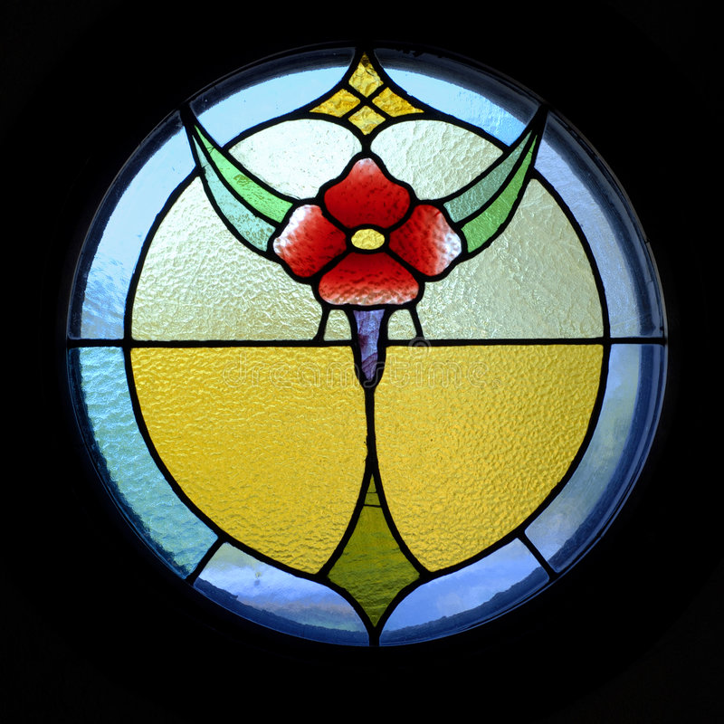 Fiore di vetro macchiato fotografie stock libere da diritti