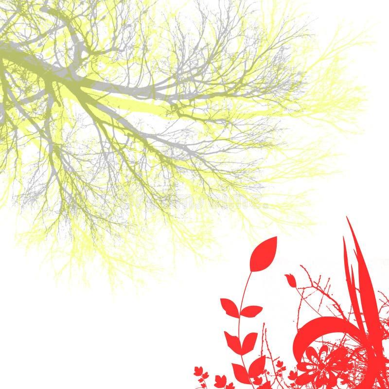Fiore ed albero illustrazione di stock