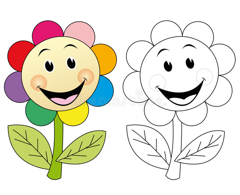 Fiore felice illustrazione di stock