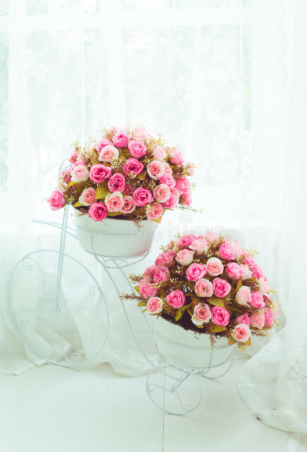 Fiore - fiore rosa, fondo floreale immagine stock libera da diritti