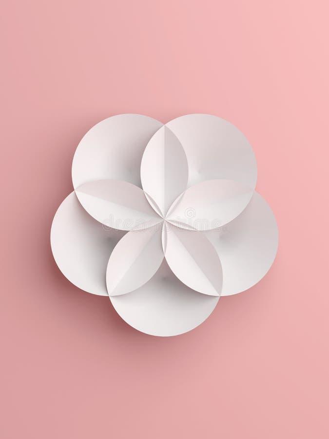 Fiore geometrico astratto del Libro Bianco illustrazione vettoriale