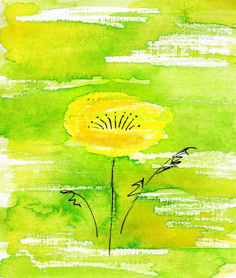 Fiore Handmade. illustrazione vettoriale