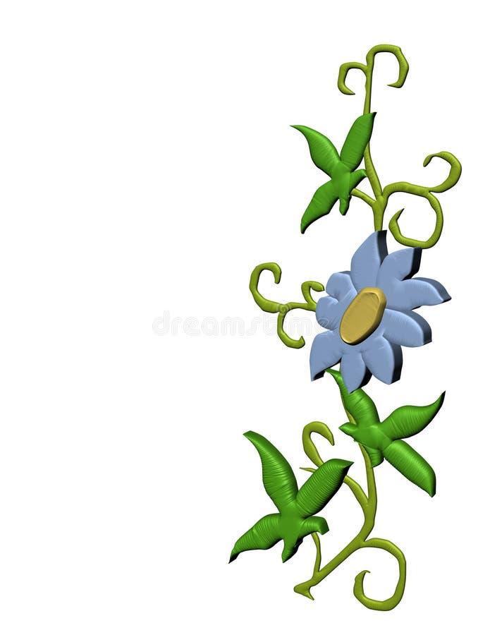 Fiore isolato del bordo royalty illustrazione gratis