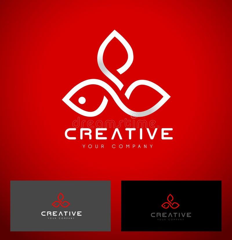 Fiore Logo Design illustrazione vettoriale