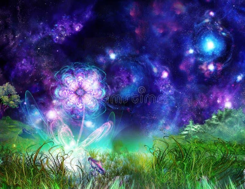 Fiore meraviglioso di favola illustrazione vettoriale