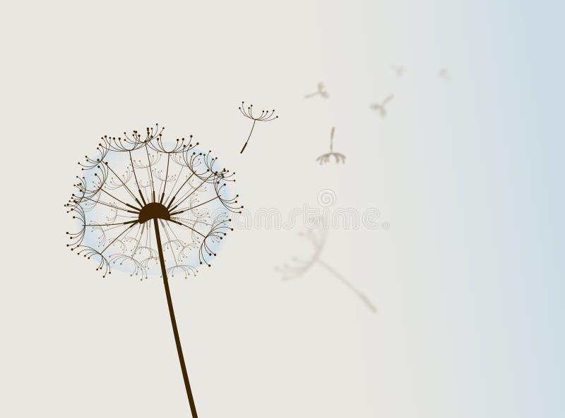 Fiore nel vento. illustrazione di stock