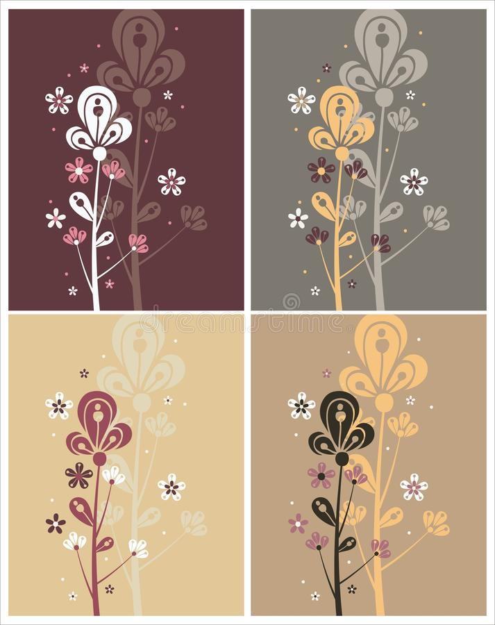 Fiore orientale Charming royalty illustrazione gratis