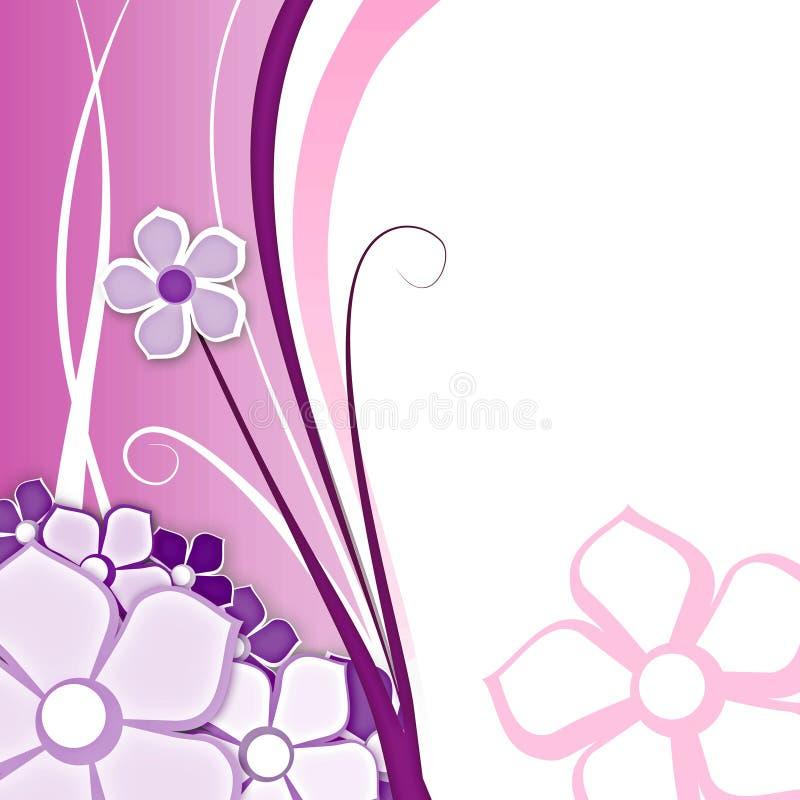 Fiore per il colore rosa della priorità bassa illustrazione vettoriale