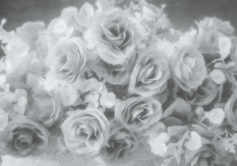 Fiore rosa dell'argento molle astratto di stile immagini stock